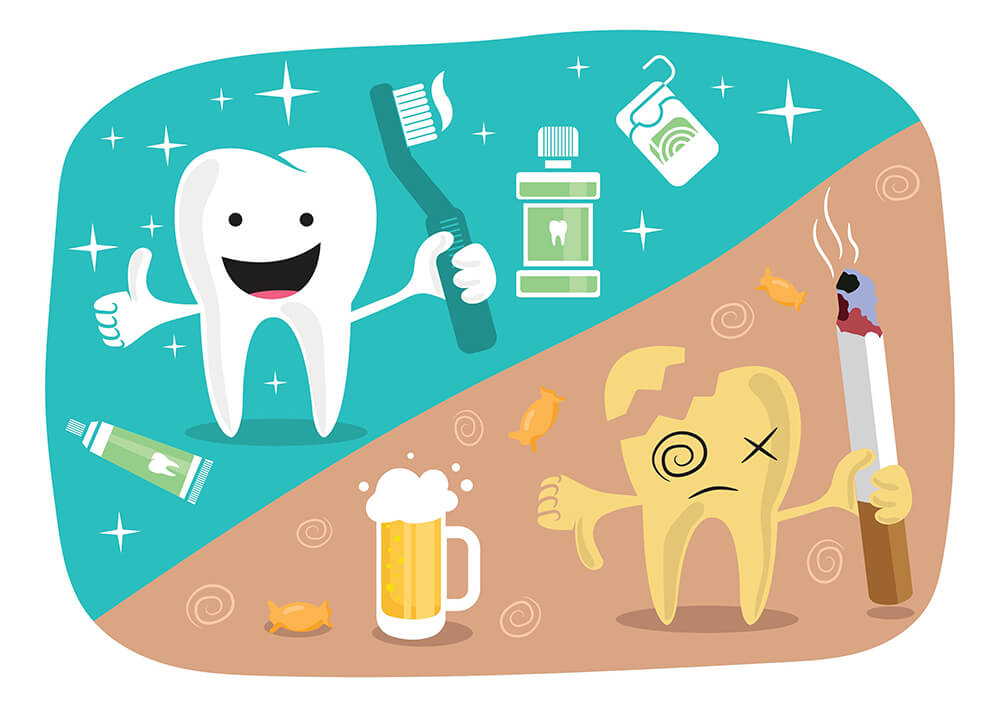 Bad oral hygiene can damage your teeth and health