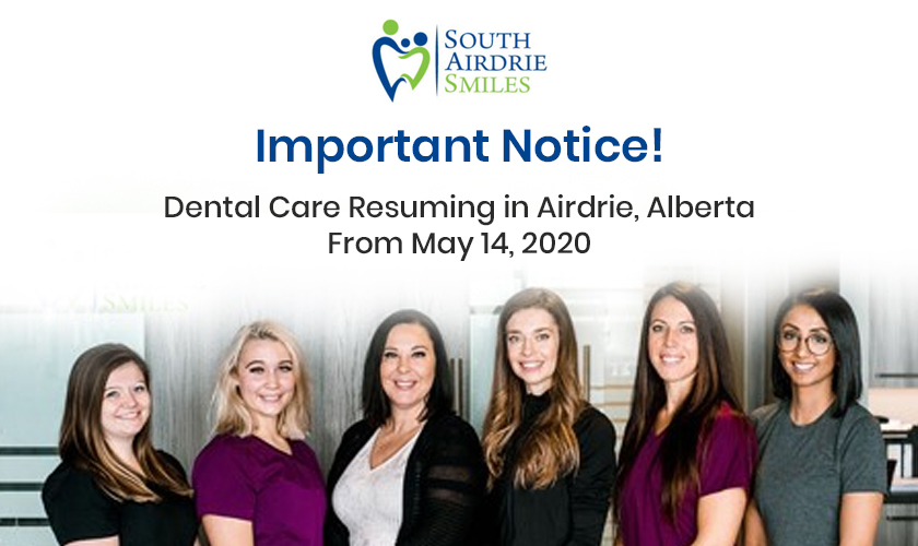 Resuming dental care in Airdrie - South Airdrie Smile